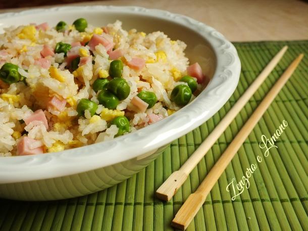 Riso cantonese zenzero e limone for Piatto tipico cinese