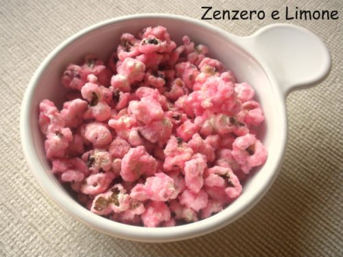 Pop corn rosa dolci
