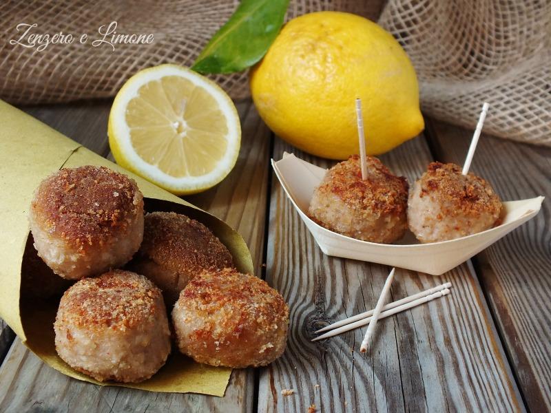 polpettine al profumo di limone