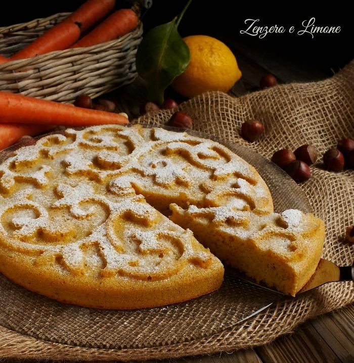 torta di carote - tagliata