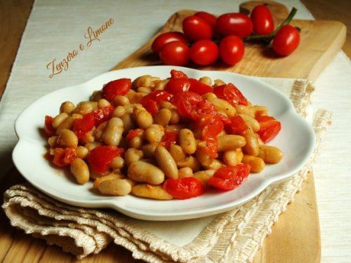 Fagioli cannellini e pomodorini, ricetta velocissima