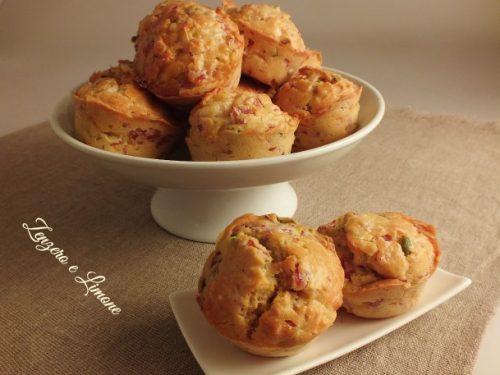 Muffin al prosciutto e formaggio (ricetta sfiziosa)