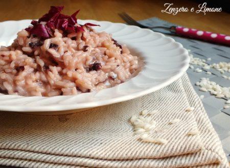 Risotto con radicchio rosso e provola - ricetta vegetariana