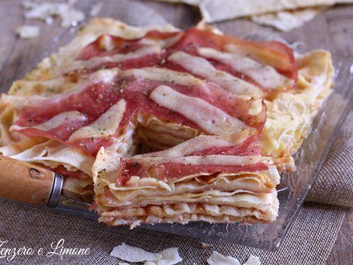 Torta salata con pane carasau