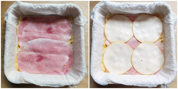 torta salata con pane carasau - procedimento