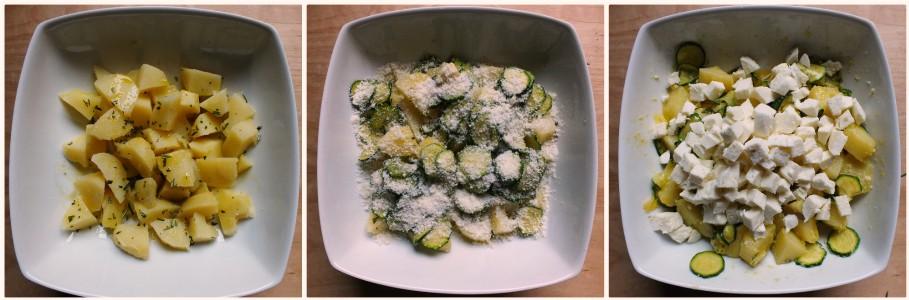 torta salata con zucchine - procedimento 2