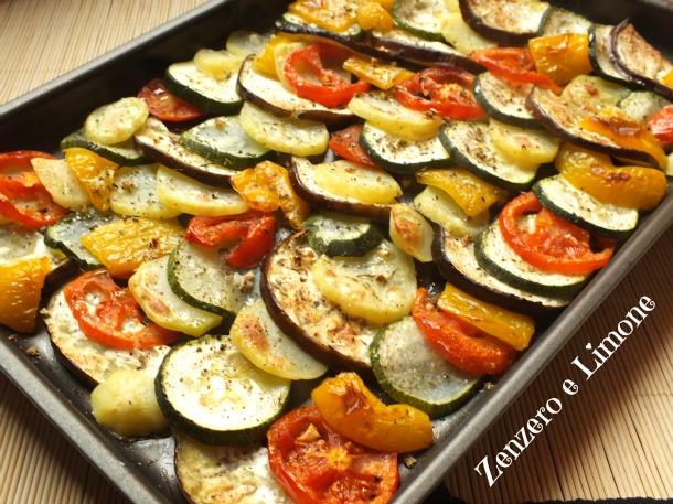 Verdure al forno ricetta contorno zenzero e limone for Cucinare arrosto