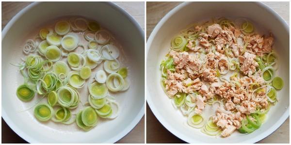 crostata salata di farfalline - procedimento 1