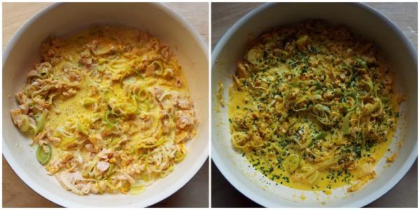 crostata salata di farfalline - procedimento 2