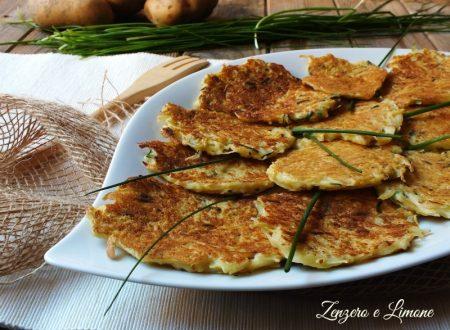 Frittelle di patate all'erba cipollina – ricetta senza olio