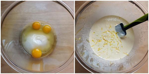 torta allo yogurt farcita - procedimento 1