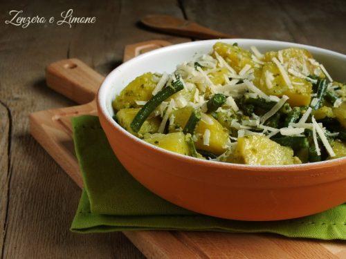 Patate fagiolini e pesto – ricetta contorno