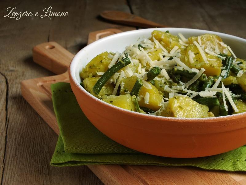 patate fagiolini e pesto