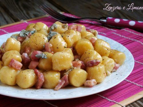 Chicche al gorgonzola e pancetta