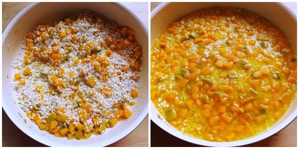 risotto zucca - cottura