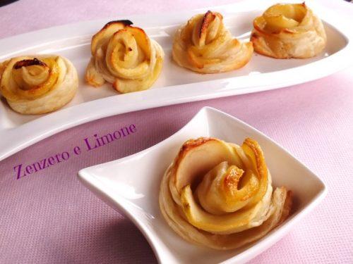 Roselline di sfoglia e mele – ricetta dolce
