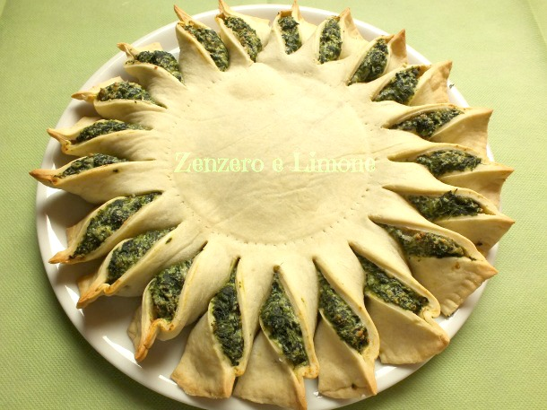 SPINACH PIE in SUNNY SHAPE| delicious recipe | Zenzero e Limone