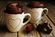 Torta in tazza al cioccolato