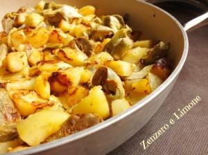 patate carciofi e porri