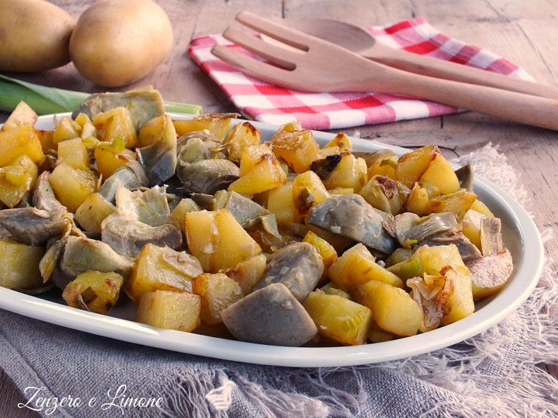 patate carciofi e porri in padella | zenzero e limone - Come Cucinare I Porri In Padella