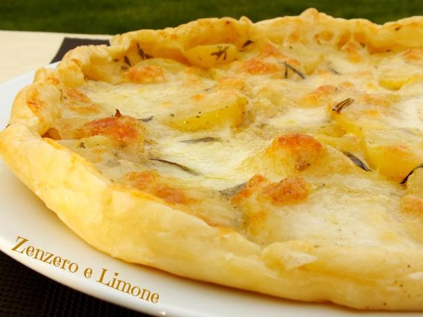 Torta salata patate e mozzarella | Zenzero e Limone