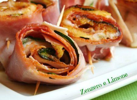 Rotolini di prosciutto e zucchine