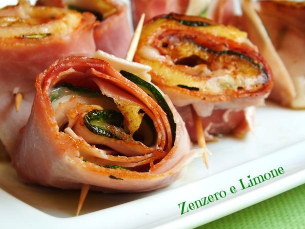 Rotolini di prosciutto e zucchine | Zenzero e Limone