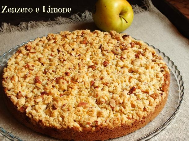 torta di mele con crumble -