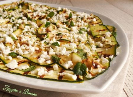 Insalata di zucchine grigliate