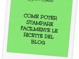 stampare le ricette del blog