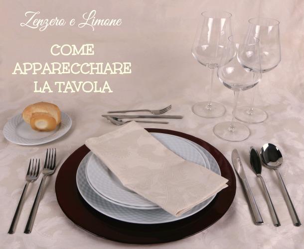 Apparecchiare la tavola zenzero e limone - Apparecchiare la tavola bicchieri ...