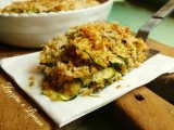 gratin di zucchine - fetta