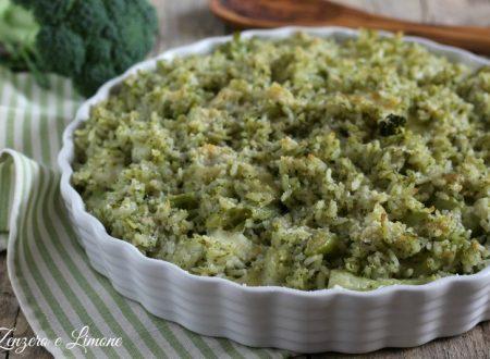 Riso al gratin con broccolo