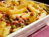 ham and peas baked pasta