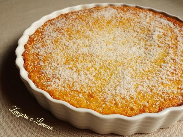 torta cremosa di cocco e mais