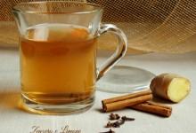 Cinnamon and ginger tisane