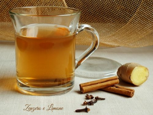 Cinnamon and ginger tisane