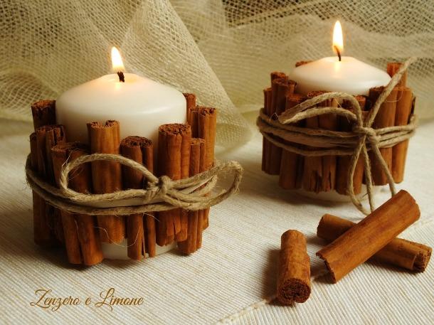 candela fatta in casa alla cannella