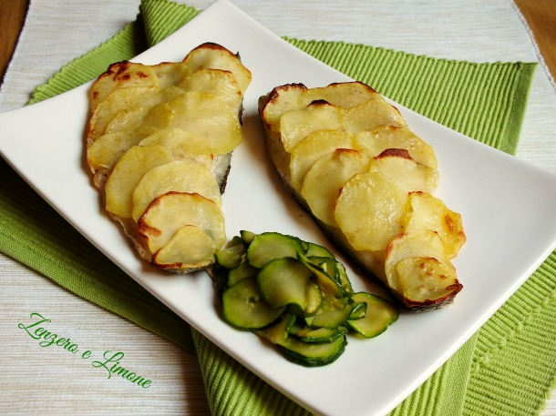 branzino in crosta di patate   zenzero e limone - Come Cucinare I Filetti Di Branzino