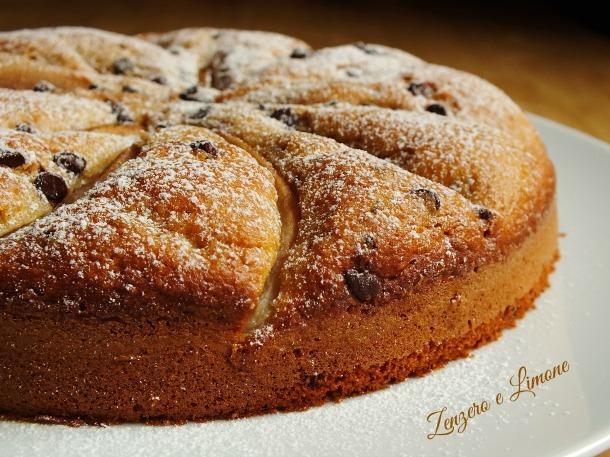 torta integrale cioccolato e pere