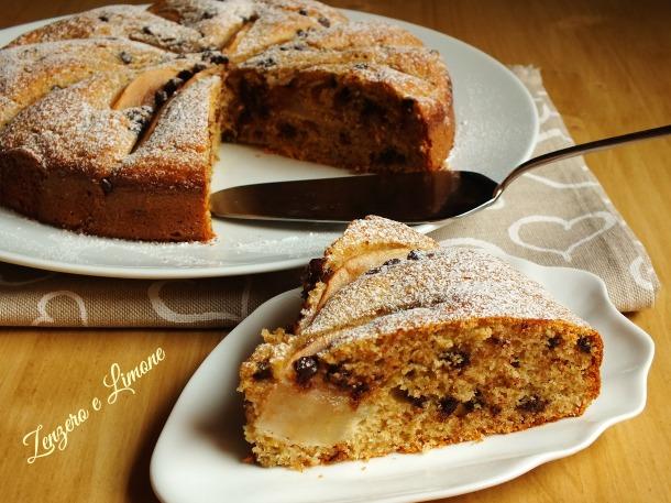 torta integrale cioccolato pere