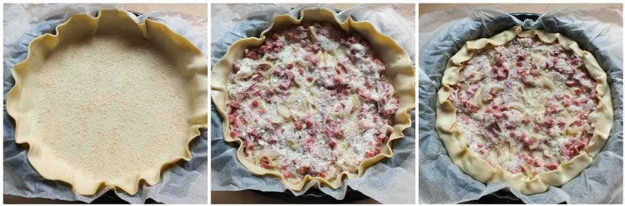 torta salata wurstel - procedimento 3