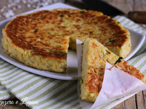 Tortino di riso – ricetta riciclo
