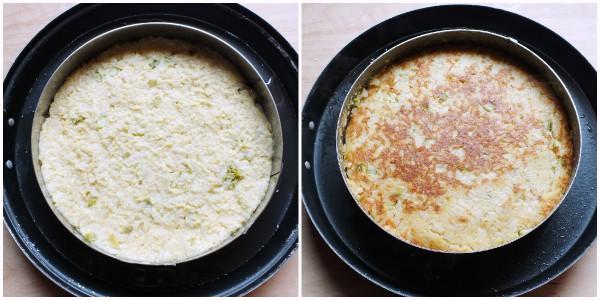 tortino di riso - cottura