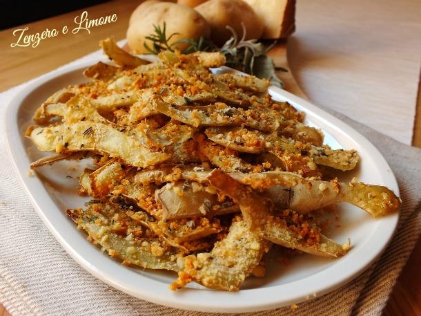 Bucce di patate alle erbe | Zenzero e Limone