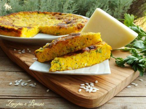 Frittata di riso e formaggio