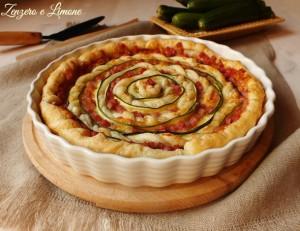 torta salata cotto mozzarella e zucchine