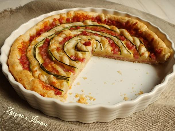 torta salata cotto mozzarella zucchine