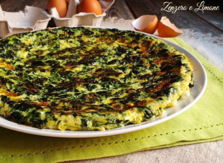 Frittata verde con spinaci e porri