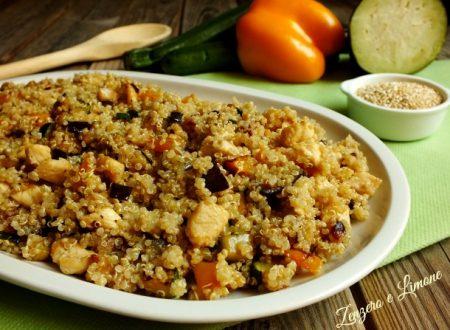 Quinoa con verdure e pollo
